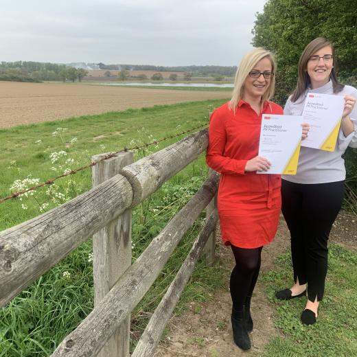 Kerry and Abi become Accredited Practitioners
