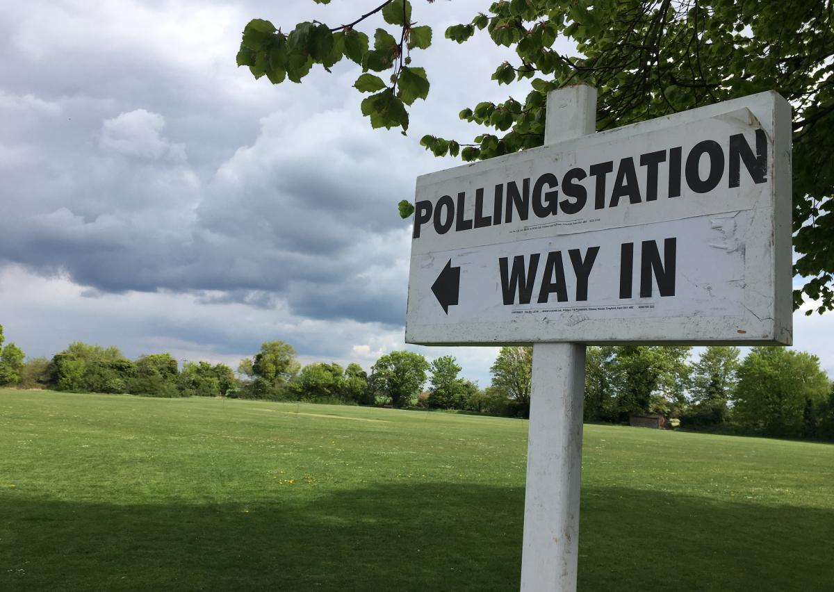 Polling station sign5